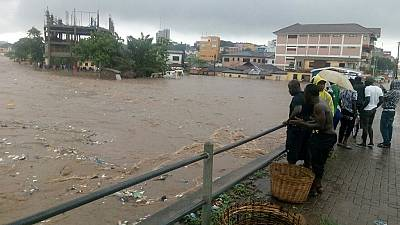 At least 10 dead including 8 children after torrential rains in Ghana