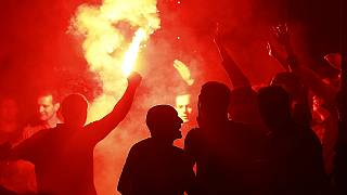 Euro 2016: England and France supporters face off in Lille