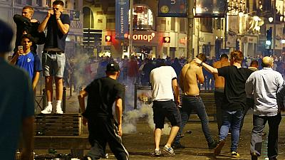 French riot police arrest 36 rowdy soccer fans in Lille