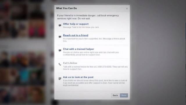 Facebook now helps you to 'privately support' a suicidal friend