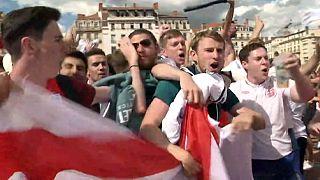 Lyon: Englische Fans feiern friedlich nach Sieg gegen Wales