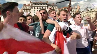 England fans react with joy to win over Wales