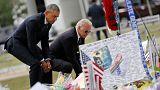 الرئيس الأمريكي يصل إلى مدينة أورلاندو لتقديم واجب العزاء لأسر ضحايا الاعتداء