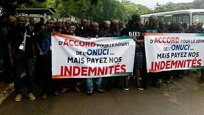 Local staff of UN mission in Ivory Coast protest for severance pay