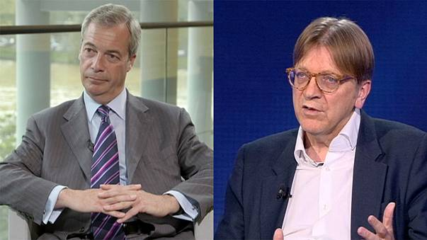 Farage and Verhofstadt: two sides of the Brexit divide