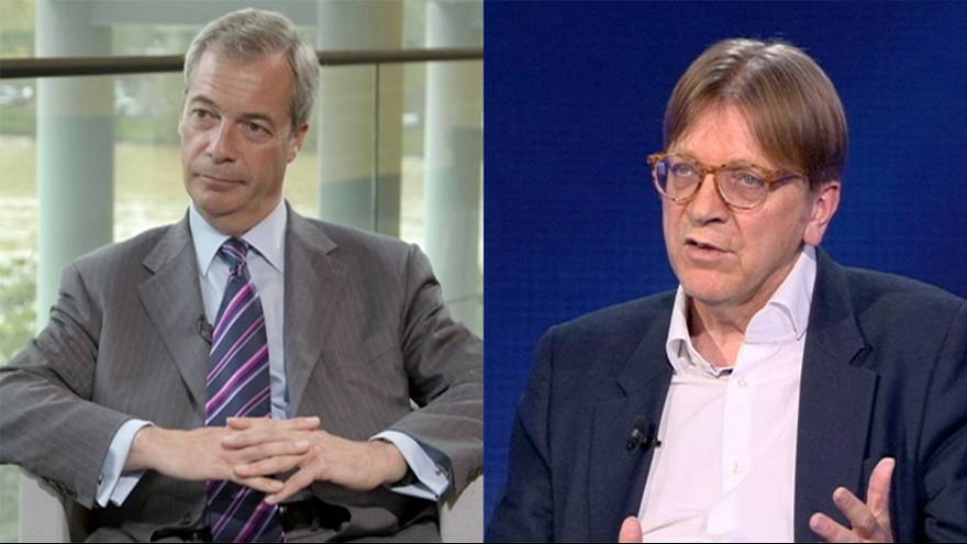 Brexit, duello: Nigel Farage vs Guy Verhofstadt