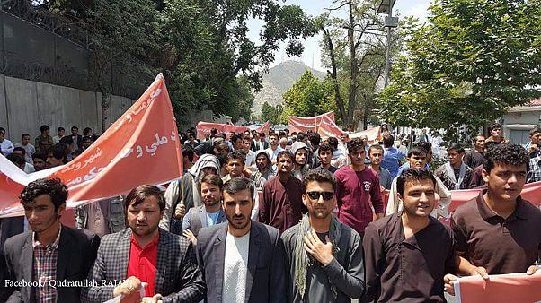تظاهرات در کابل در اعتراض به وضعیت امنیتی افغانستان