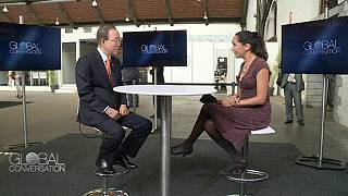 Ο Γ.Γ. του ΟΗΕ Μπαν Κι Μουν στο Global Conversation