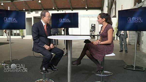 Интервью с генсеком ООН Пан Ги Муном