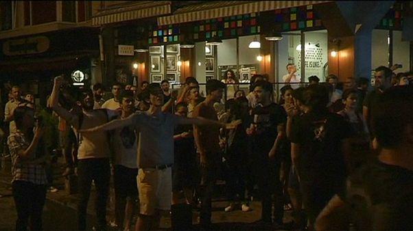 İstanbul'da plakçı dükkanına saldırı protestosuna polis müdahalesi
