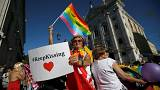 Thousands march at gay pride parade in Portugal