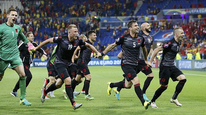Euro 2016: Arnavutluk'tan tarihi zafer