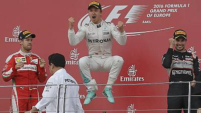 Rosberg triumphs in Baku to extend championship lead