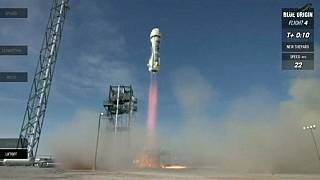 """شركة """"بلو أوريجين"""" تنجح للمرة الرابعة في اطلاق واعادة صاروخ غير مأهول"""