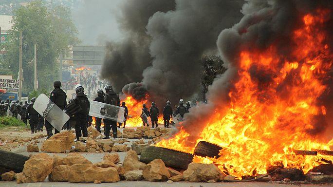 Halálos összecsapás egy mexikói tüntetésen
