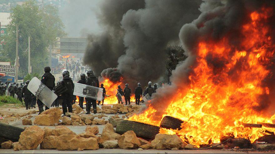 Al menos 6 muertos en el sur de México en una protesta de profesores