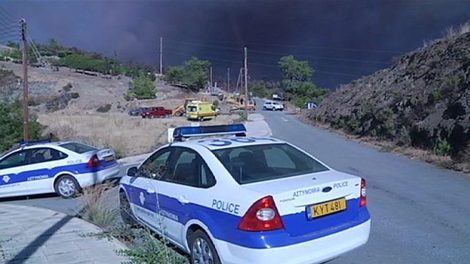 Кипр не может справиться с лесным пожаром