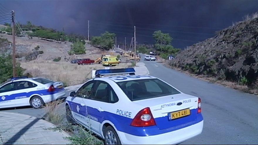 قبرص: حرائق غير مسبوقة تستدعي تدخل طائرات بريطانية ويونانية وإسرائيلية