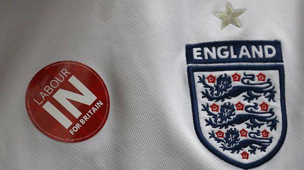 Los hinchas ingleses pendientes de la Eurocopa y del Brexit