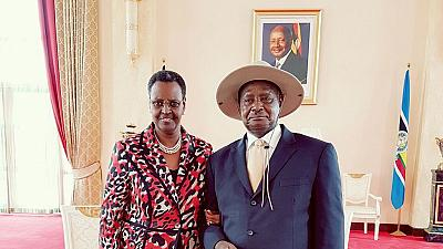 Museveni's wife sworn-in as Education and Sports minister