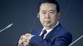Interpol President Meng Hongwei at an International Cybersecurity Congress