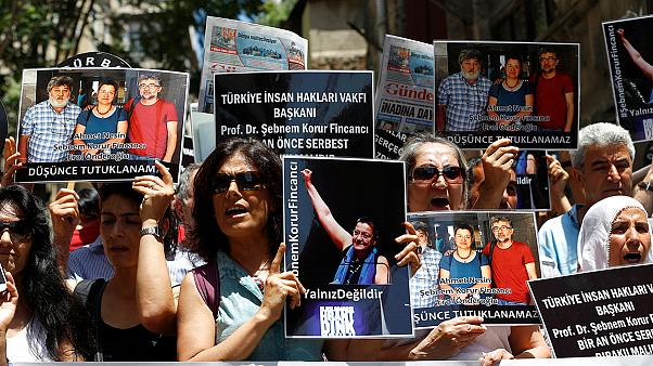 Protests after prominent activists arrested in Turkey