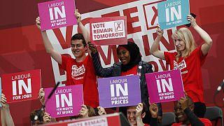 David Cameron e John Major juntos em campanha pela permanência na UE