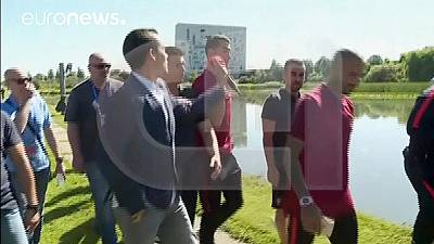 Watch: Ronaldo loses it and throws microphone into lake