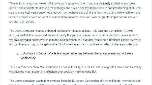 """""""Dear parents..."""" the full letter from two daughters urging their parents to vote 'remain'"""