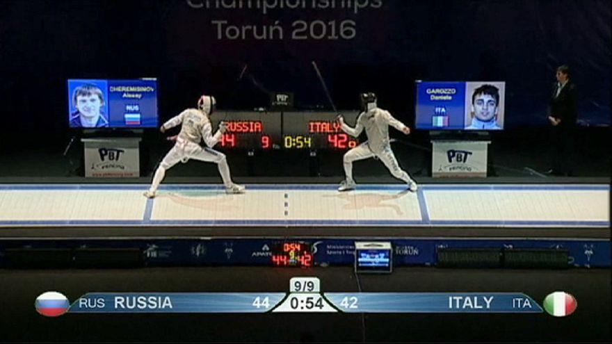 Avrupa Eskrim Şampiyonası'nda Rusya rüzgârı esti