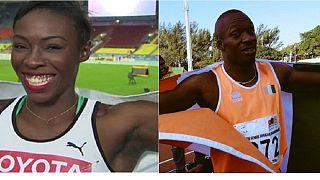 """Championnat d'Afrique d'athlétisme : les Ivoiriens Murielle Ahouré et Méité Ben Youssef en """"or"""" à Durban"""