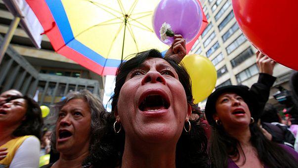 Alegría en las calles de Colombia
