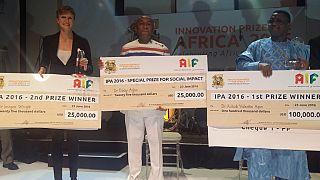 """Prix de l'innovation pour l'Afrique 2016 : 100 000 $ pour le Béninois Valentin Agon avec """"Api Palu"""""""