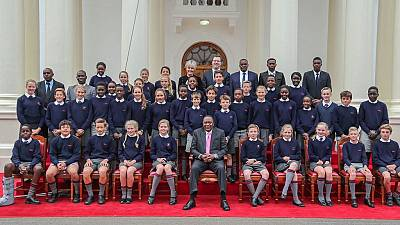 [Photos] When Kenyan President handed his seat to a student
