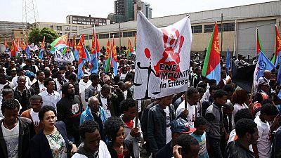 Manifestation des Érythréens en Éthiopie contre la dictature dans leur pays