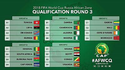 Éliminatoires Coupe du monde 2018 :les différents groupes sont connus en Afrique