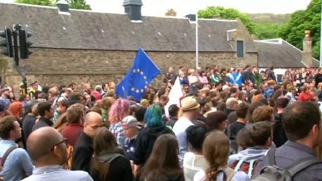 Pro-European Scots protest result of Brexit referendum