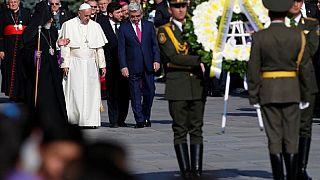 """Le pape : """"la mémoire"""" du génocide arménien """"ne peut être étouffée"""""""