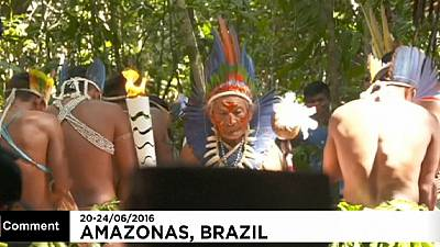 Olympic torch in the heart of the Amazon – nocomment