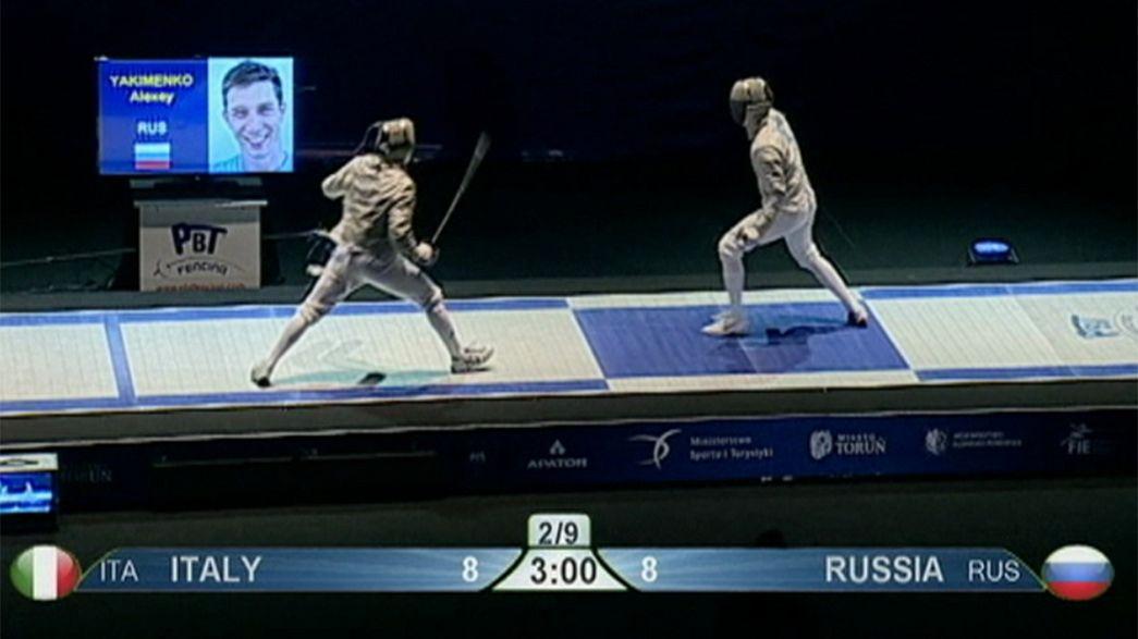 Россия - чемпион Европы по фехтованию