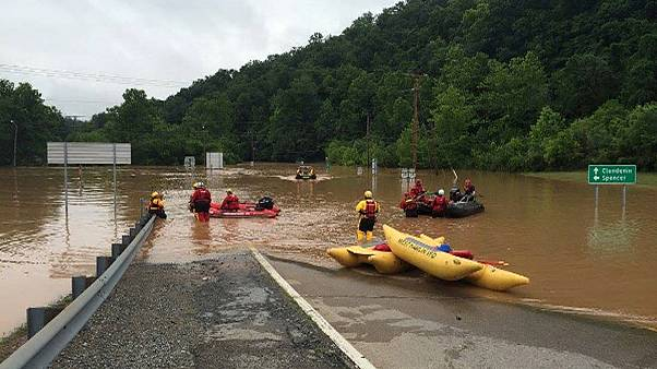 US National Guard help rescue effort in flood-hit West Virginia
