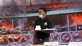 Myanmar burns large pile of heroin and marijuana on UN anti-drugs day