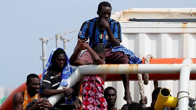 Hundreds of West African migrants rescued in Mediterranean taken to Italy