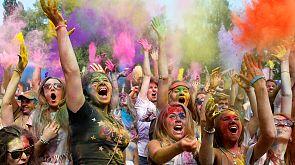 Fun festival with colours