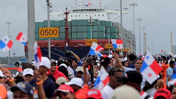 إحتفال بتدشين قناة بنما بعد تجديدها و توسعتها