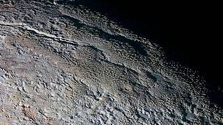 "The ""bladed terrain"" on Pluto, seen here by NASA's New Horizons spacecraft"