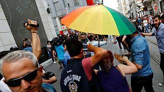 Taksim'de gergin anlar