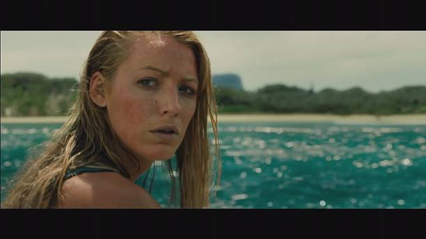 Blake Lively, in a bikini, fighting a shark