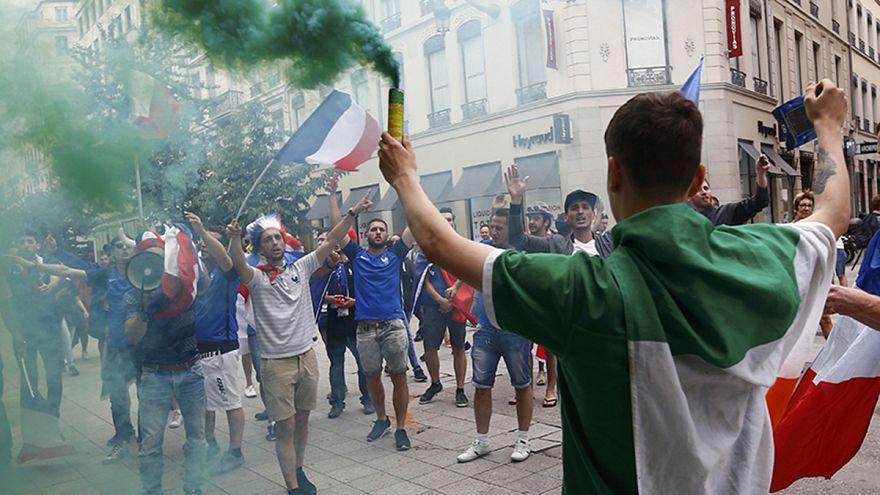 Fransa'da İrlandalı taraftarlarla bir gün