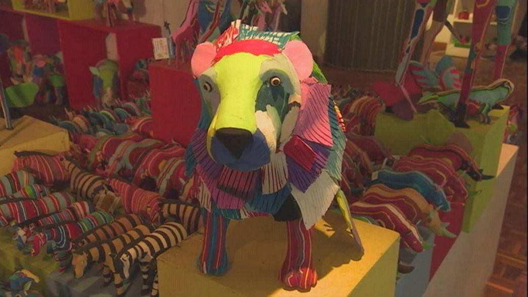 Recyclingidee: Tierfiguren aus ausgedienten Flipflops